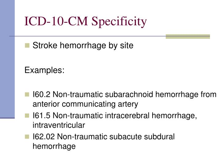 ICD-10-CM Specificity