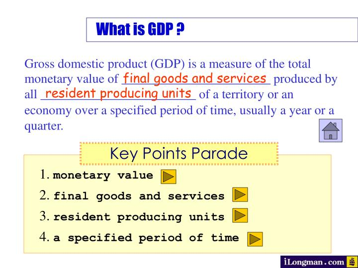 What is GDP ?