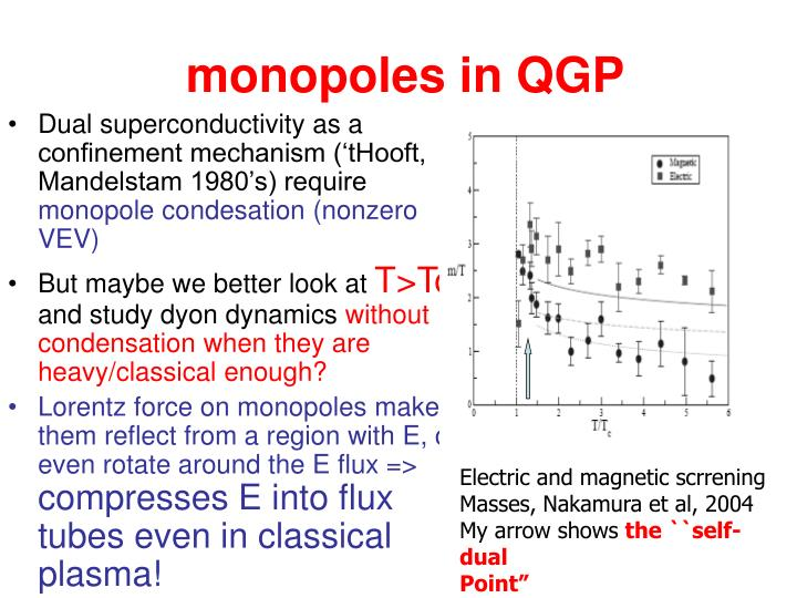 monopoles in QGP