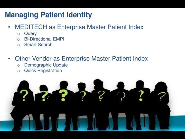 Managing Patient Identity