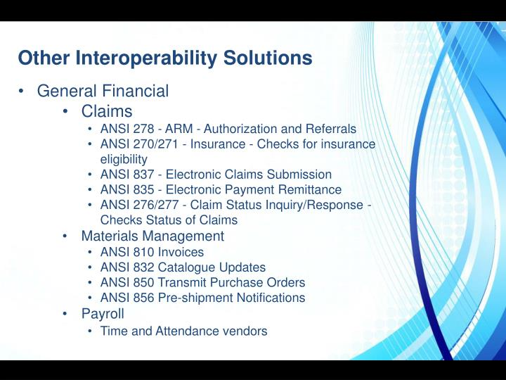 Other Interoperability Solutions