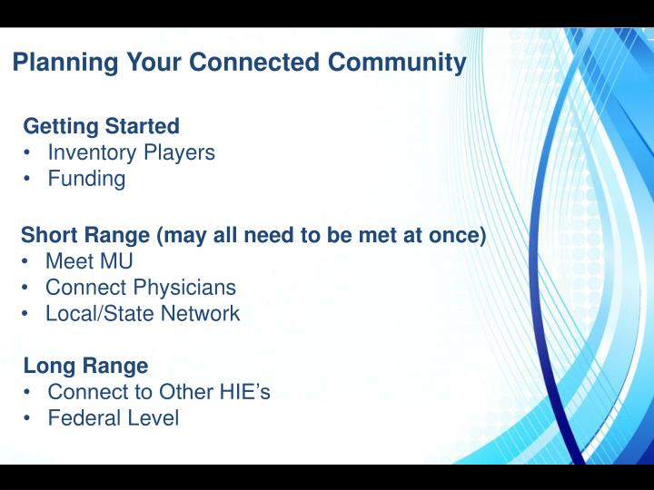 Planning Your Connected Community