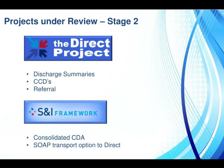 Projects under Review – Stage 2