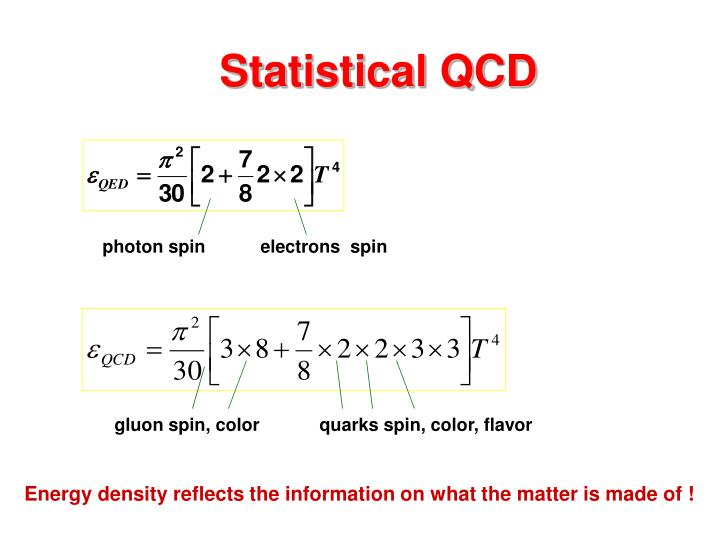 Statistical QCD