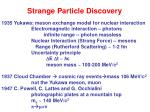 strange particle discovery