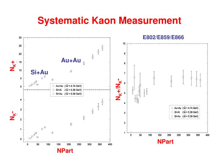 Systematic Kaon Measurement