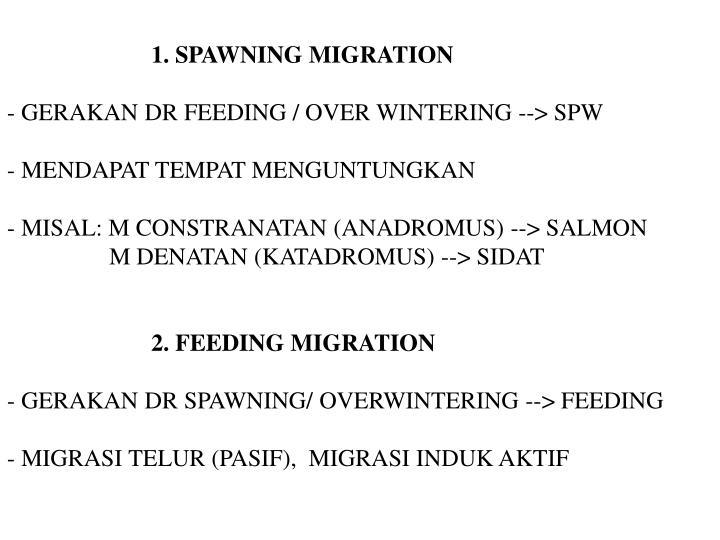 1. SPAWNING MIGRATION