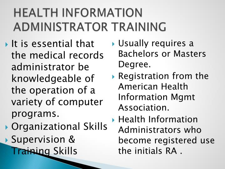 It is essential that the medical records administrator be knowledgeable of the operation of a variety of computer programs.