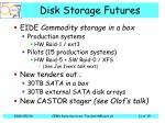 disk storage futures