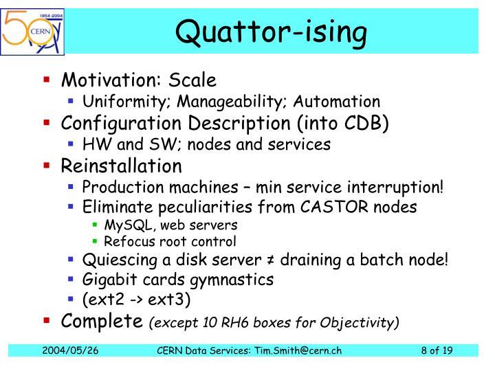 Quattor-ising