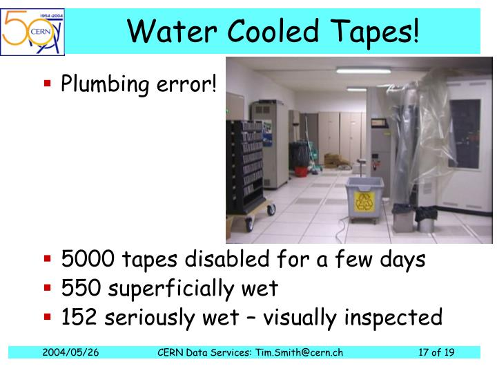 Water Cooled Tapes!