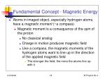 fundamental concept magnetic energy