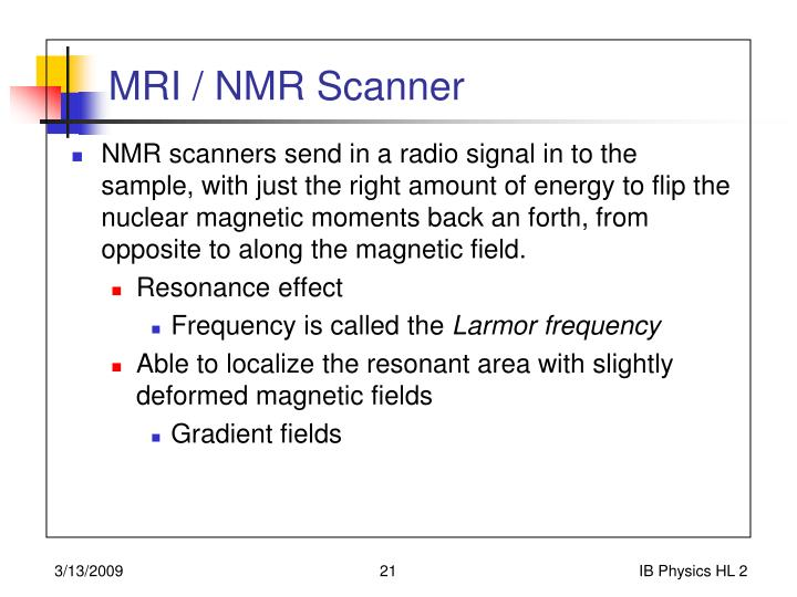 MRI / NMR Scanner