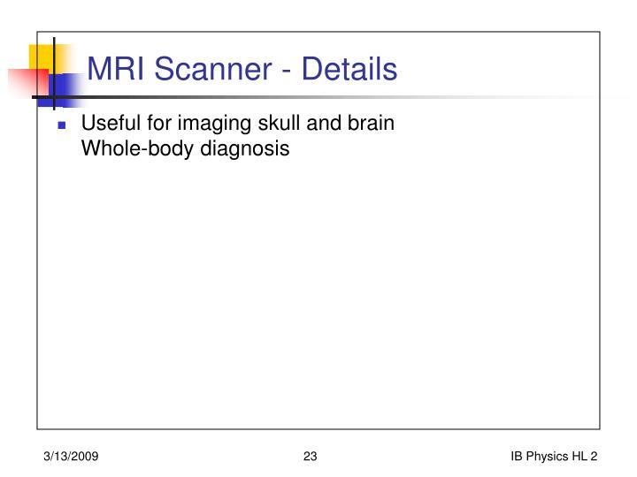 MRI Scanner - Details