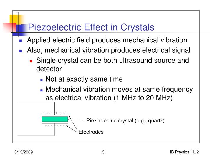 Piezoelectric effect in crystals