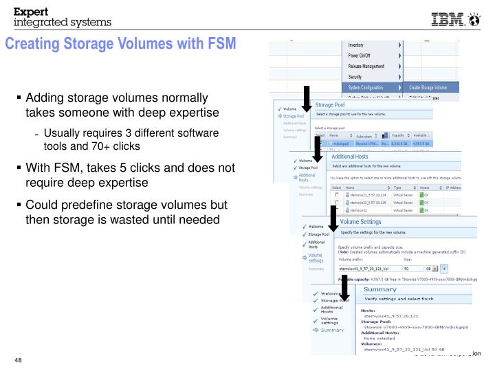 Creating Storage Volumes with FSM
