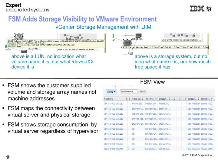 FSM Adds Storage Visibility to VMware Environment
