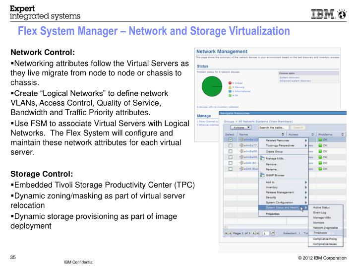 Flex System Manager – Network and Storage Virtualization