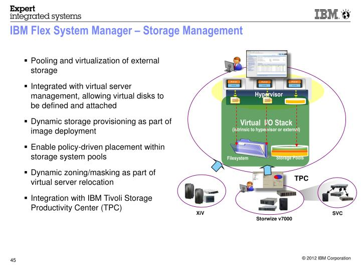 IBM Flex System Manager – Storage Management