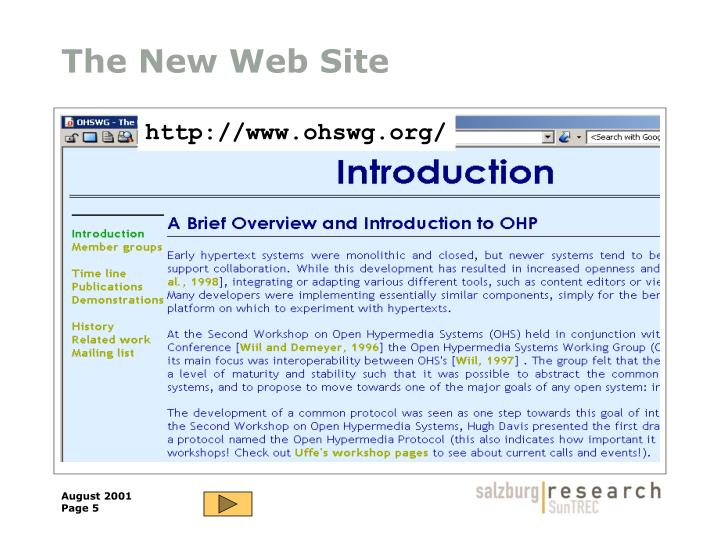 The New Web Site