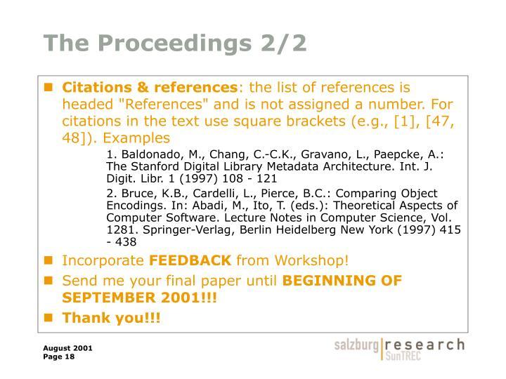 The Proceedings 2/2