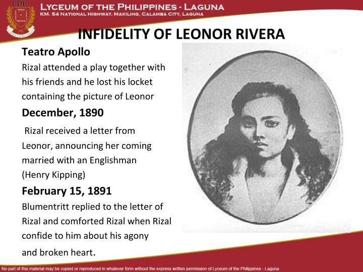 INFIDELITY OF LEONOR RIVERA