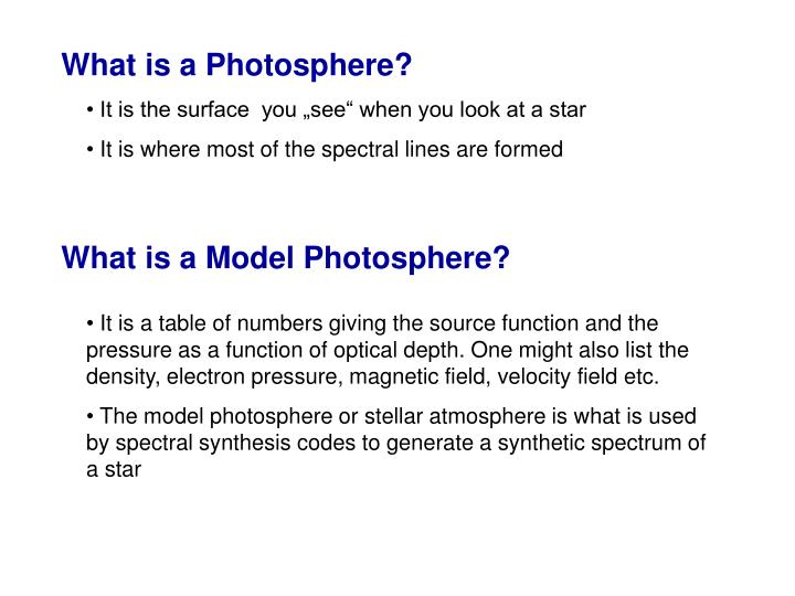 What is a Photosphere?