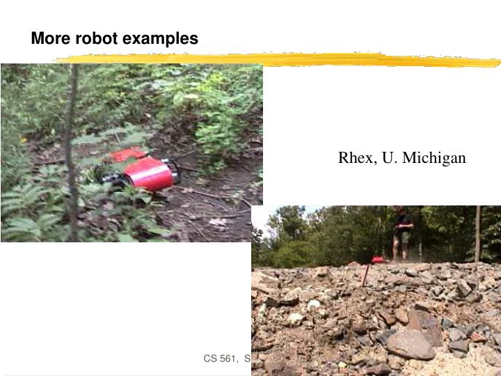 More robot examples
