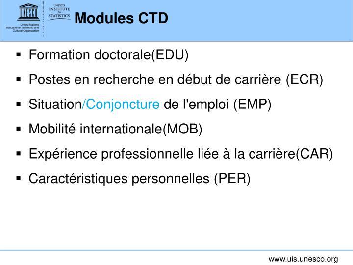 Modules CTD