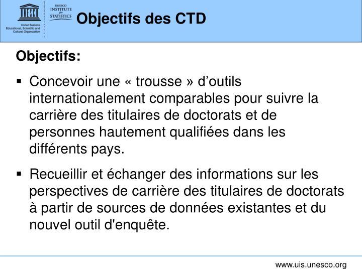 Objectifs des CTD