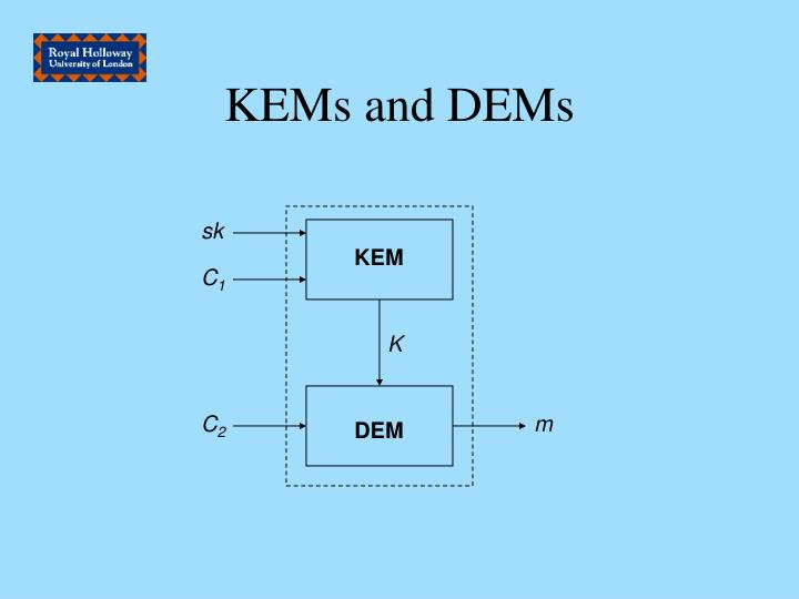 KEMs and DEMs