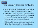 the security criterion for kems