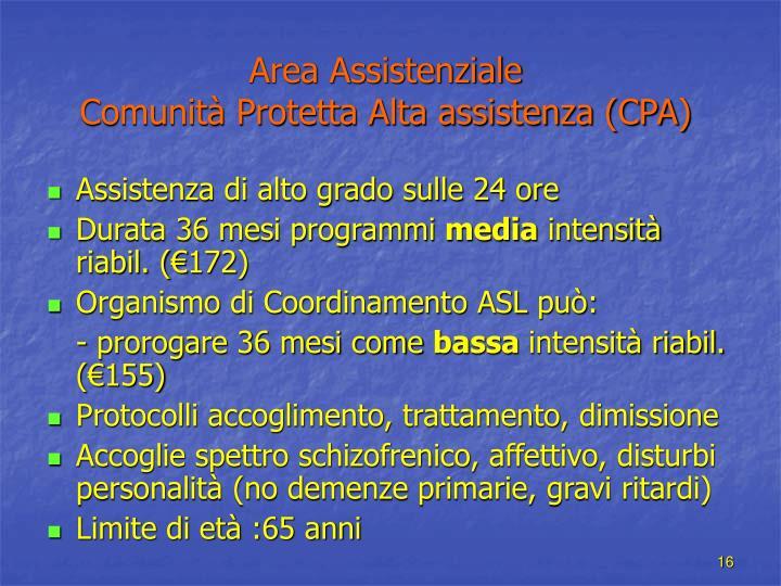 Area Assistenziale
