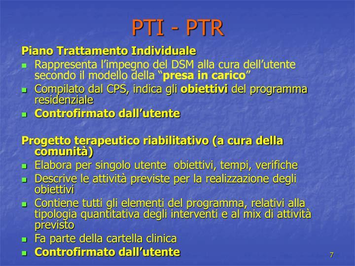 PTI - PTR