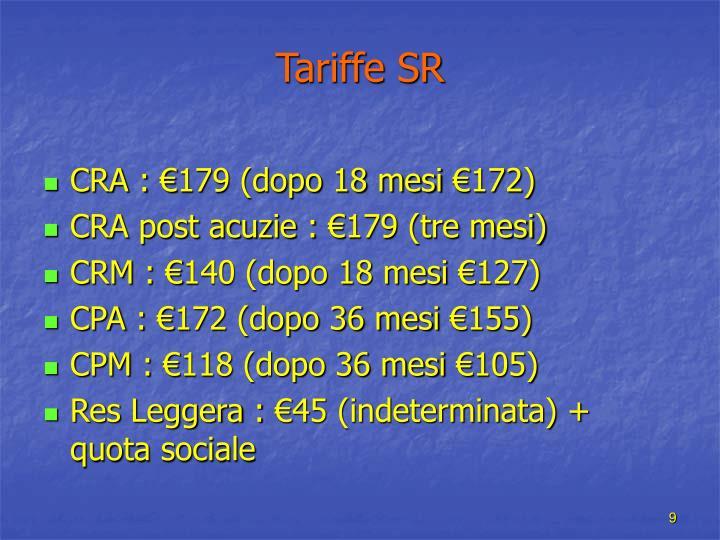 Tariffe SR