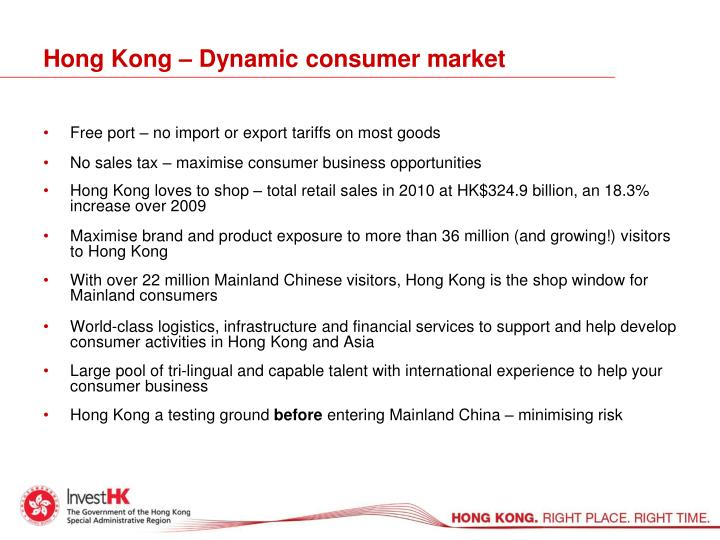Hong Kong – Dynamic consumer market