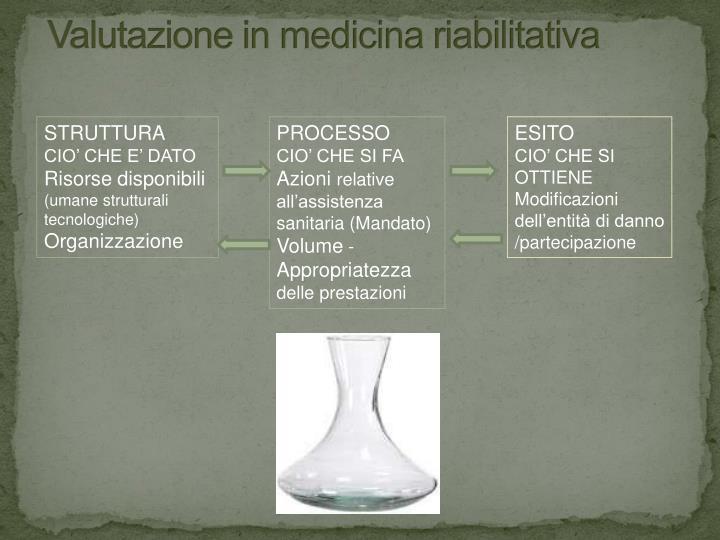 Valutazione in medicina