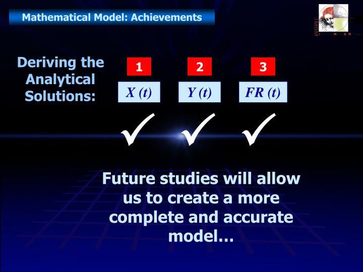 Mathematical Model: Achievements