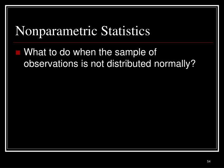 Nonparametric Statistics