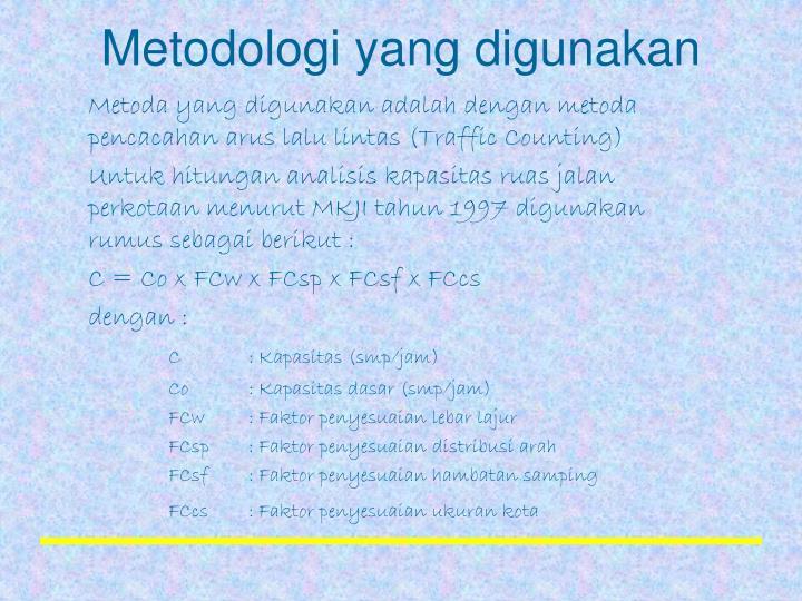 Metodologi yang digunakan