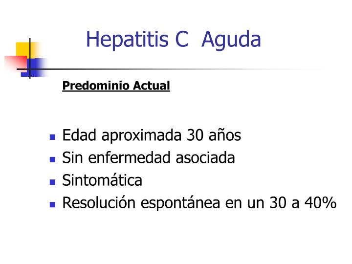 Hepatitis C  Aguda