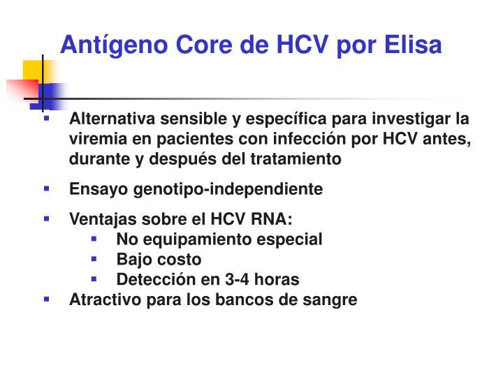 Antígeno Core de HCV por Elisa