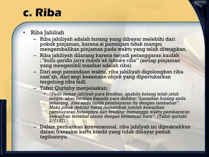 c. Riba