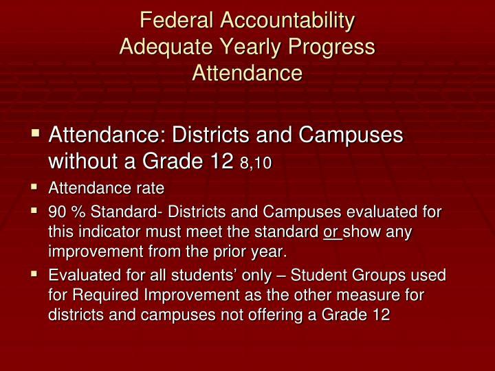 Federal Accountability