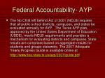 federal accountability ayp