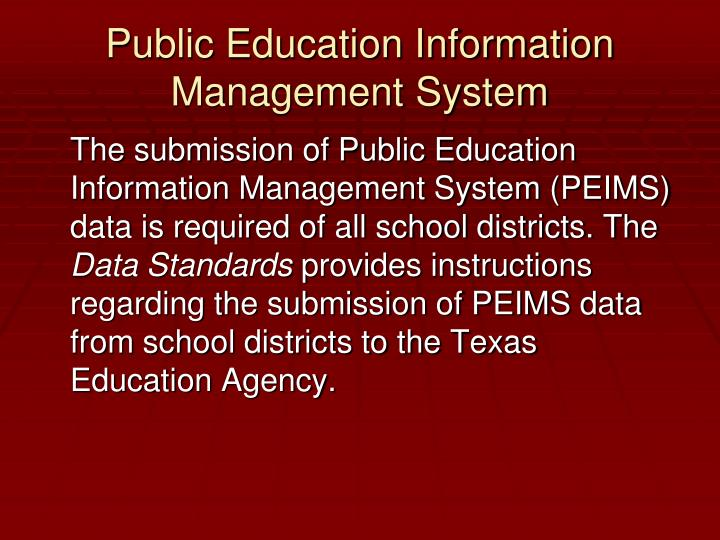 Public Education Information Management System