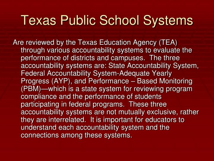 Texas Public School Systems