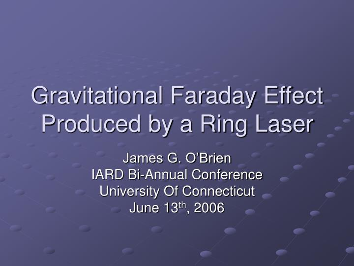 Gravitational faraday effect produced by a ring laser