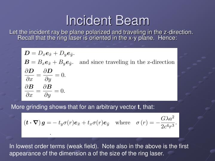 Incident Beam