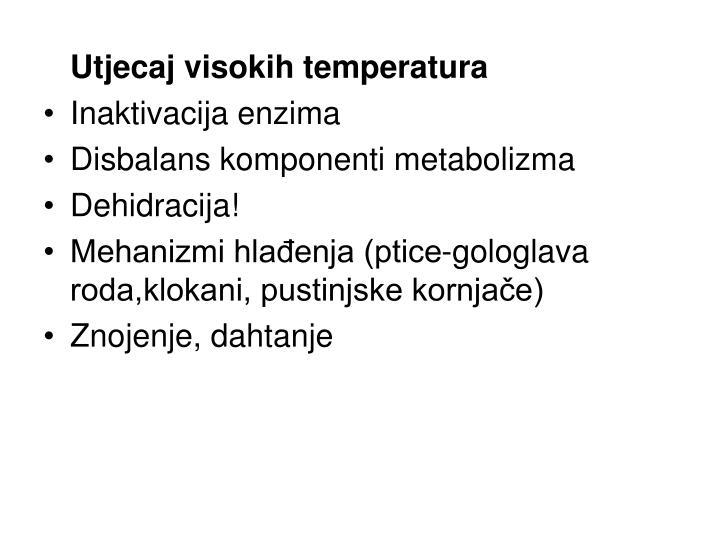 Utjecaj visokih temperatura